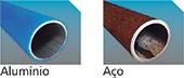 rede de ar em aluminio